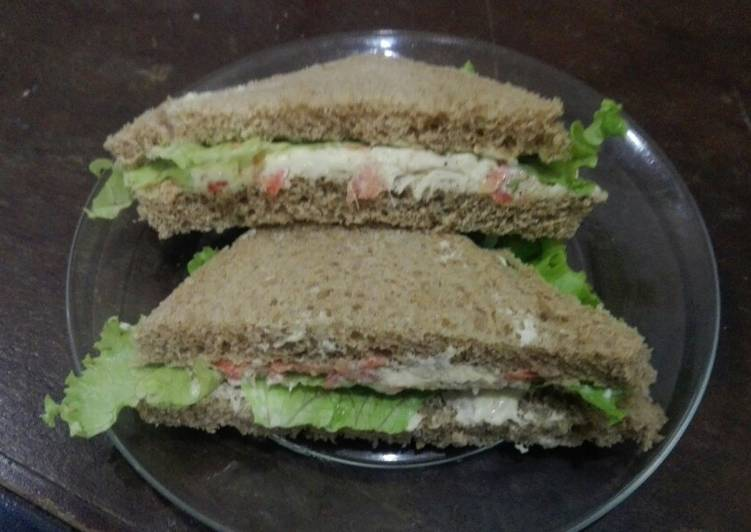 Easiest Way to Cook Tasty Chicken carrot sandwiches