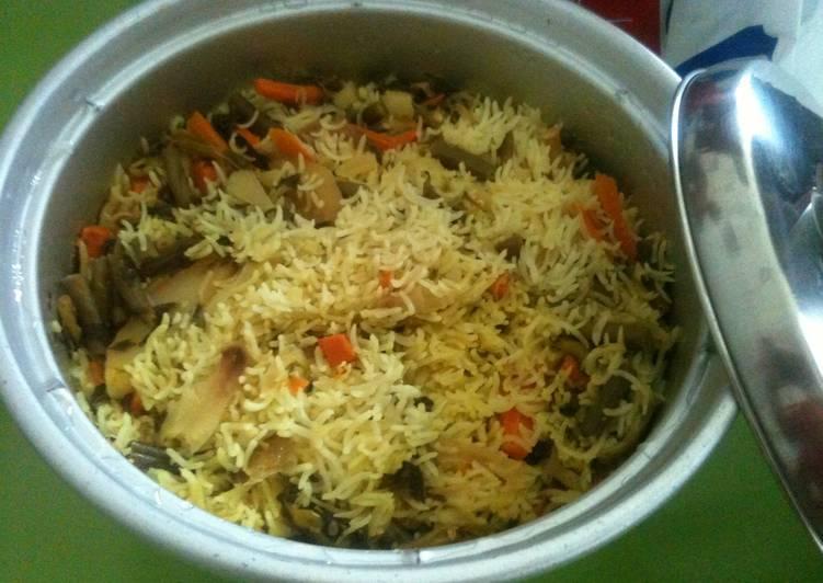 Top 100 Dinner Easy Fall Vegetable Biryani - prepared in a rice cooker