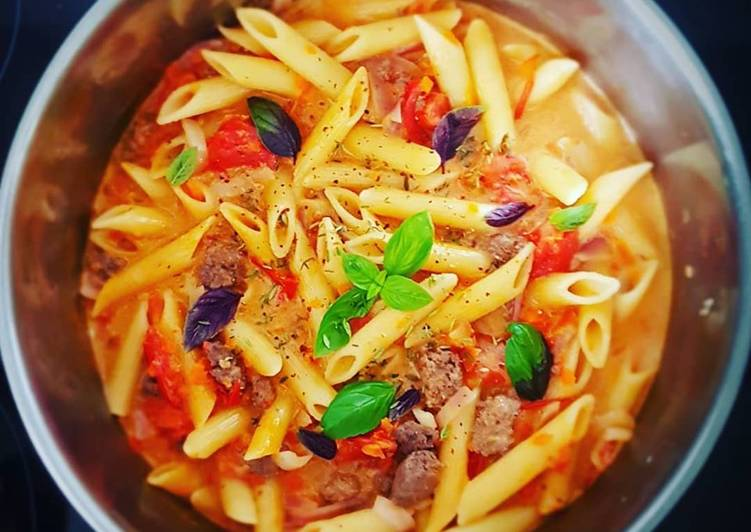 Recette: Délicieux One pot pasta boeuf/tomate..