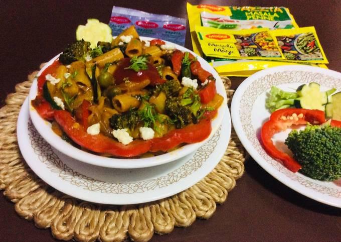 Spicy veg Maggi magic masala pasta