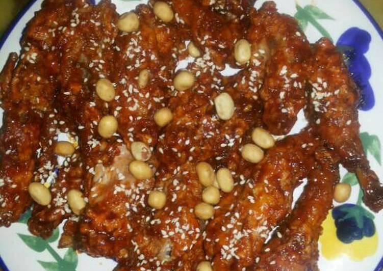Ayam Goreng Pedas Crispy ala Korea (Yangnyeom Chicken)