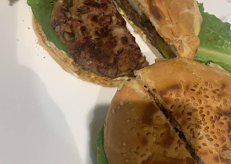 Mushroom and Bean Burger