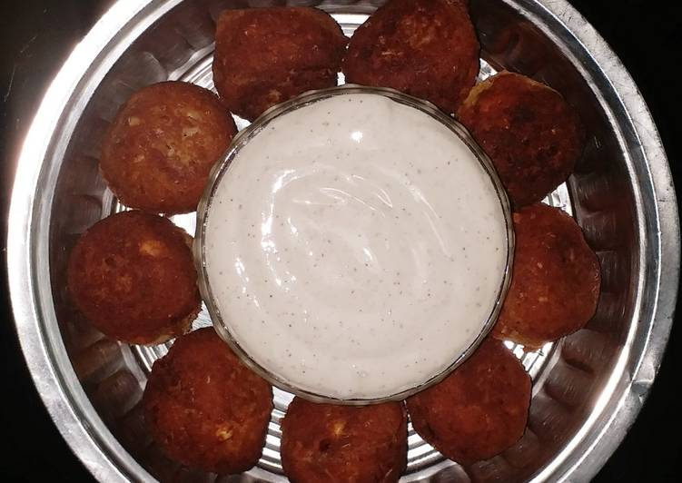 Easiest Way to Make Homemade Falafel with homemade eggless mayonnaise