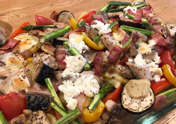 Grilled Mackerel and Vegetable