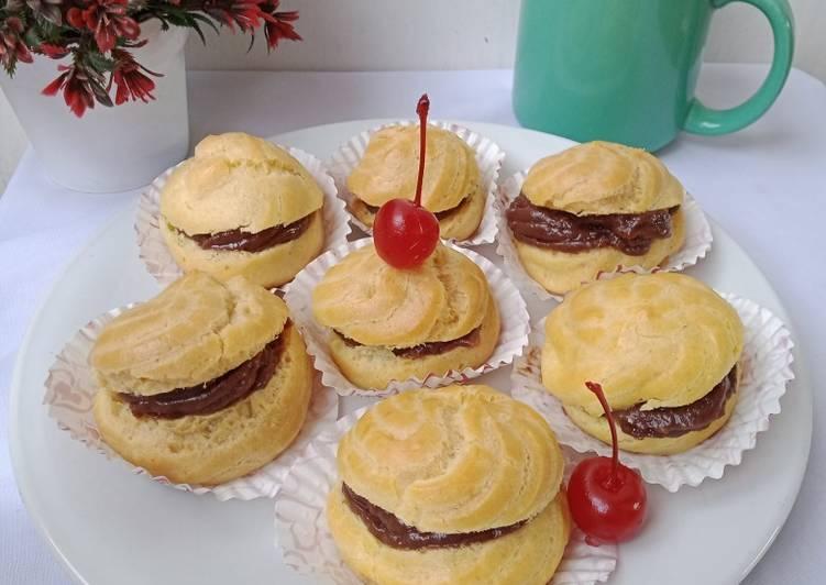 Kue Soes/Sus Vla Coklat (Tanpa DCC)