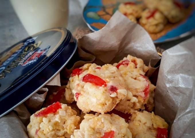 Red pearl cookies. biskut (maraton ramadhan)