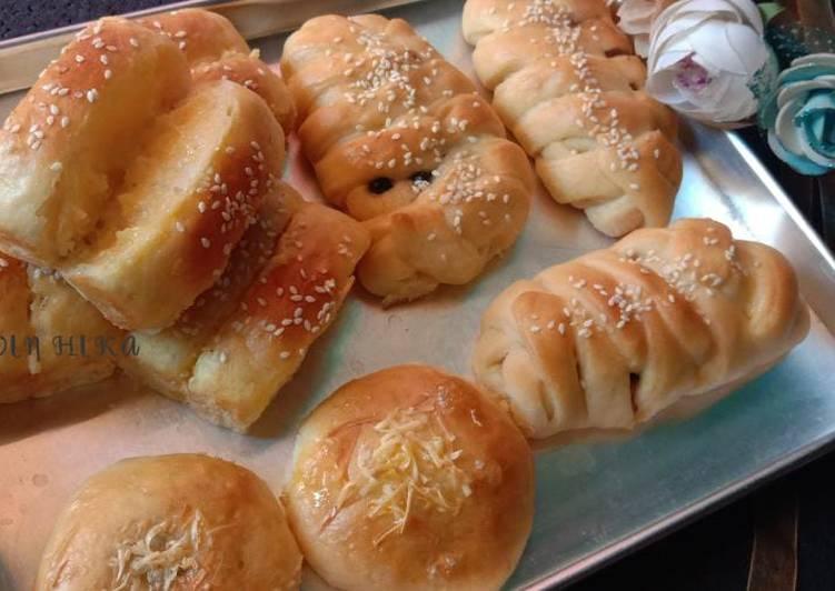 Roti sisir,Roti manis kepang pisang coklat,roti manis coklat sus