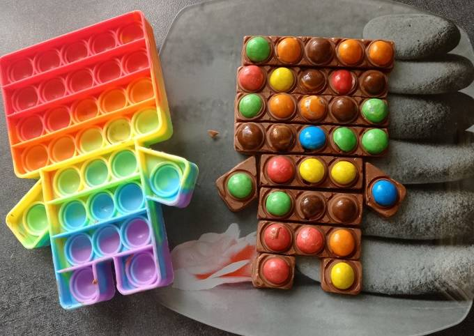 Pop it chocolat m&m's