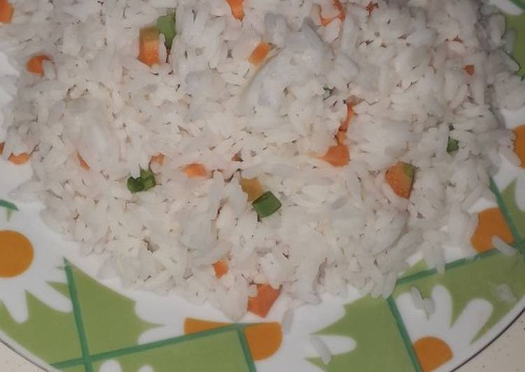White Rice mix