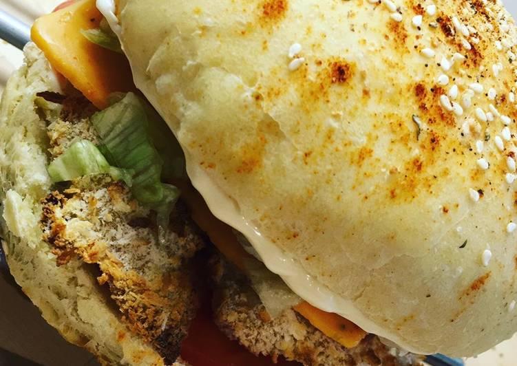 Pains hamburger parmesan origan extrêmement moelleux