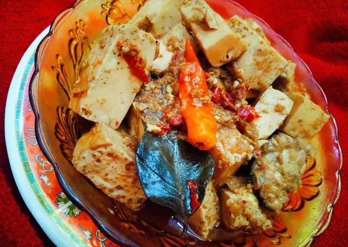 Telur putih dan tempe gongso (menu diet)