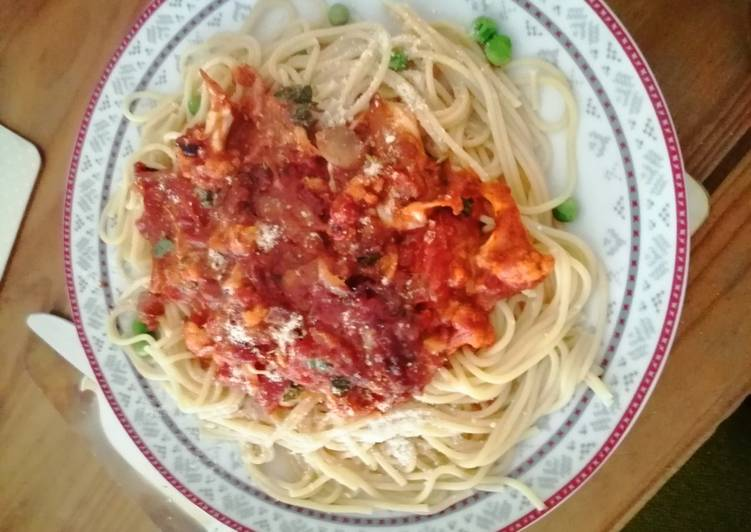 Step-by-Step Guide to Make Award-winning Tomato over Spaghetti