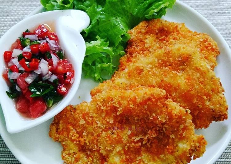 Resep Chicken Schnitzel Dg Sambal Dabu Oleh Keko Risti Cookpad