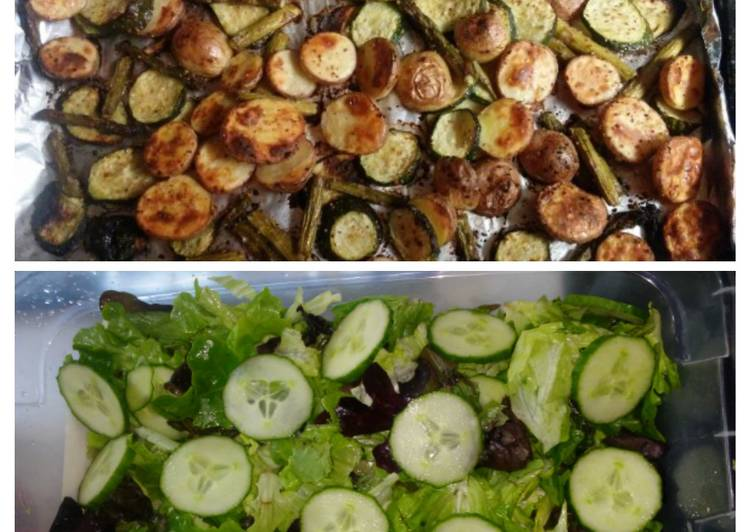 Recipe: Perfect Baked Veggies & Salad