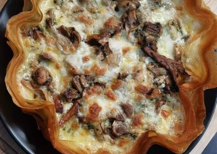 Recette Savoureux Tarte aux champignons