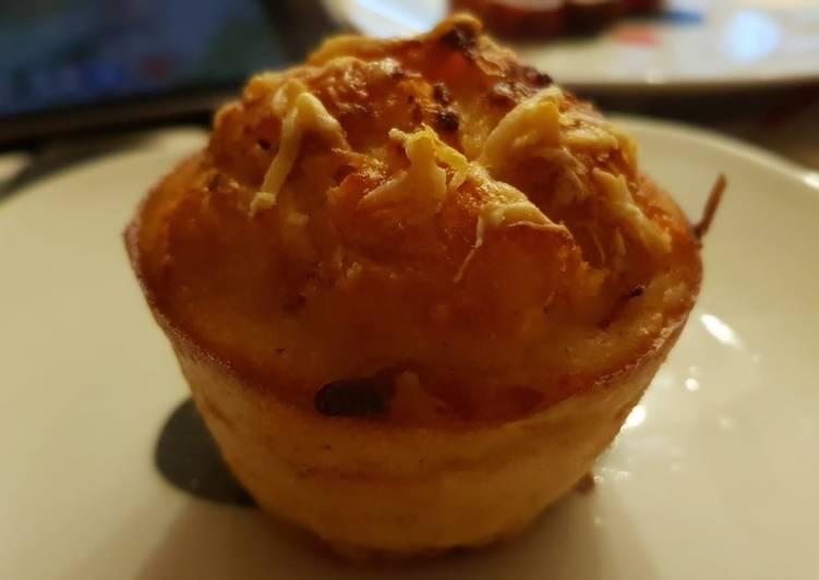 Muffins salados de jamón, queso y bacon
