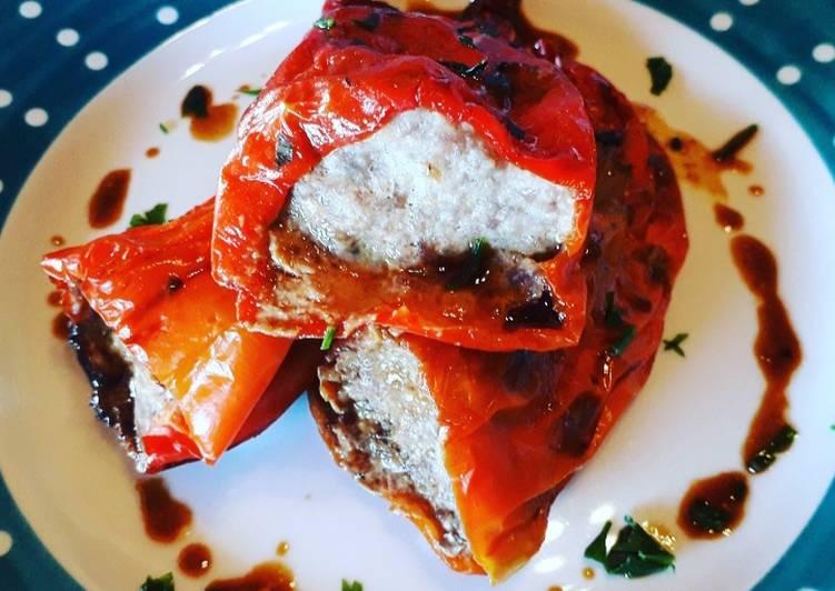 Ricetta Peperoni ripieni di carne e dadini di formaggio