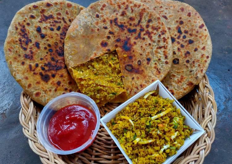 Chauli & nuts stuffed paratha