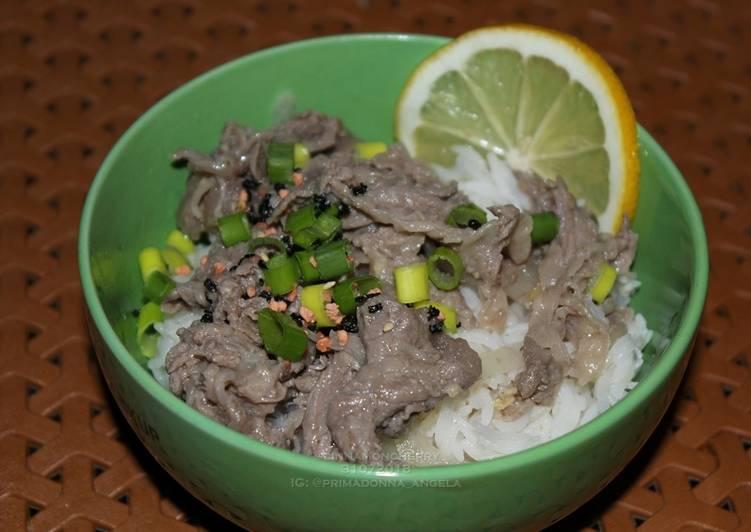 20 Minute Dinner Ideas Spring Lemon Gyudon