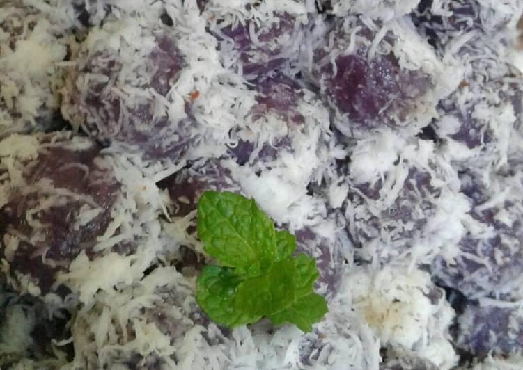 Resep Klepon ubi ungu… 🍠🍠🍠