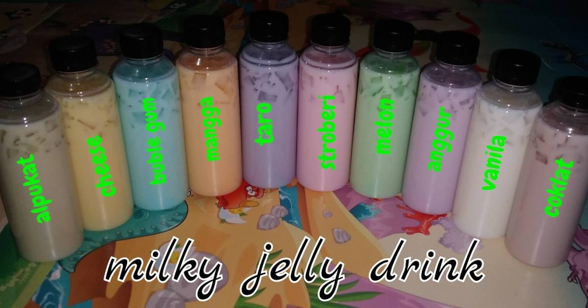 9. Milky Jelly Drink (Ide Bisnis Home Made)