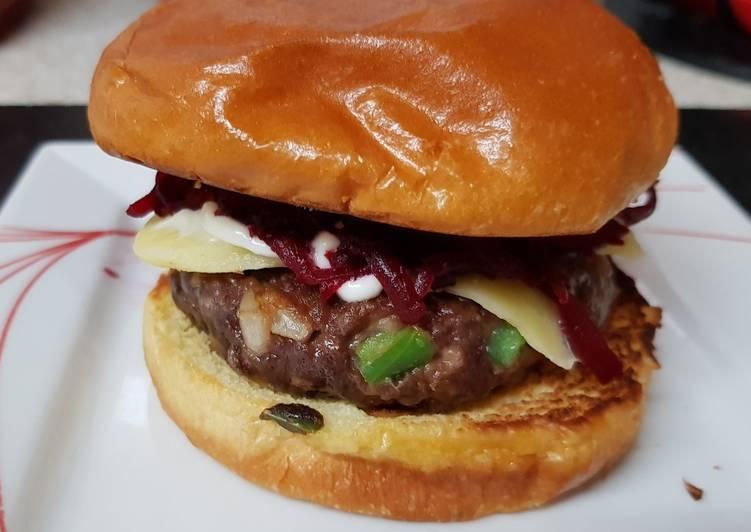 My Sweet Chilli Burger on a Brioche Bun. 😁