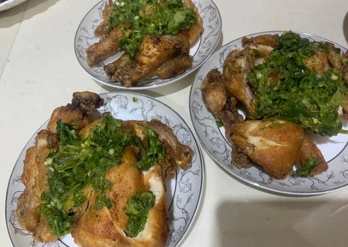 Ayam penyet cabe ijo