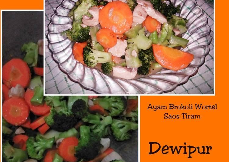 Ayam Brokoli Wortel Saos Tiram Ala Dewipur