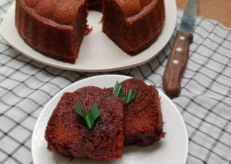 Cake Karamel atau Bolu Sarang Semut - cookandrecipe.com