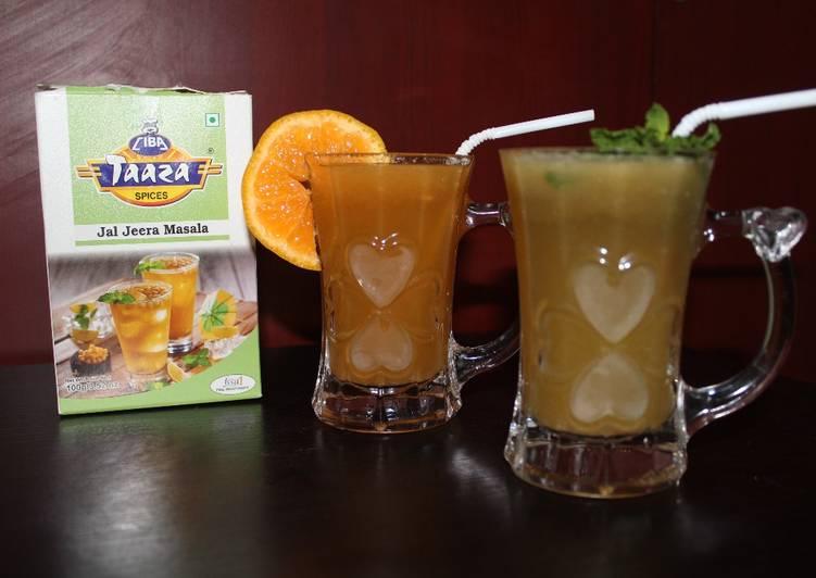 Step-by-Step Guide to Prepare Super Quick Homemade Pineapple, Lemon and Orange Jaljeera Juice