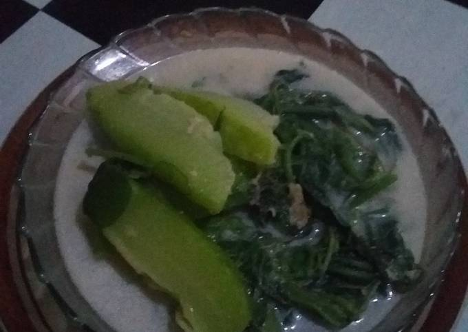 Sayur bobor daun & labu siam
