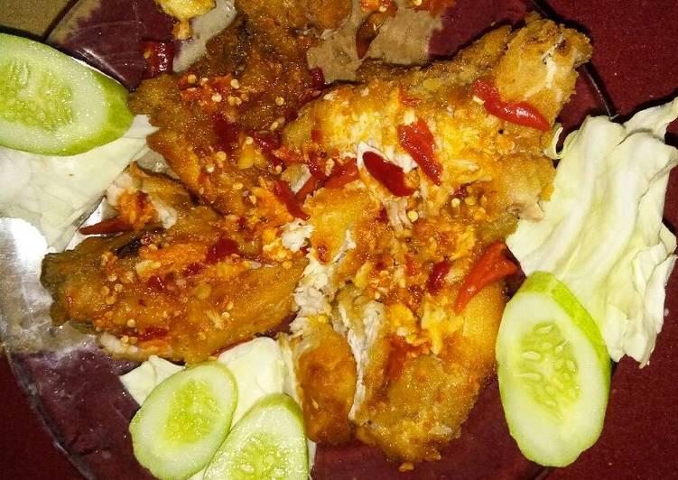 Ayam geprek judes simple