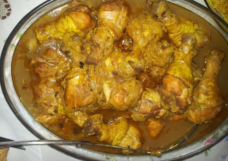 طريقة عمل دجاج كورما أو الدجاج المقلي