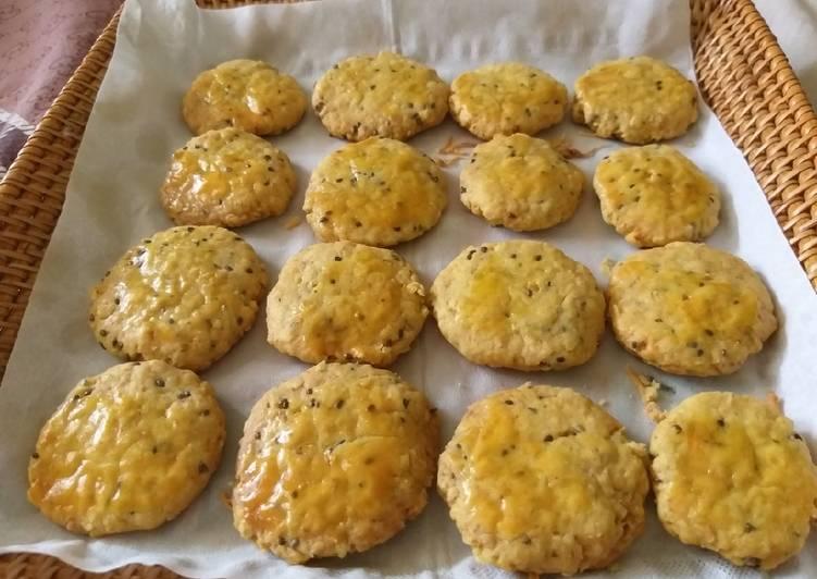 Oat chia cheese cookies