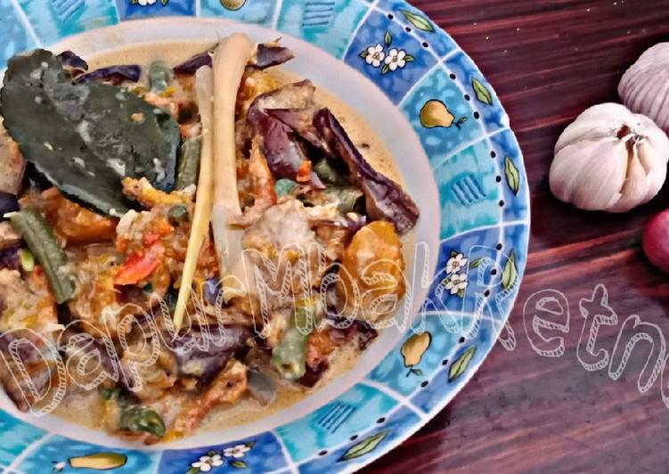 Terong Udang Rebon Santan (sayur lodeh versi Manado) foto resep utama