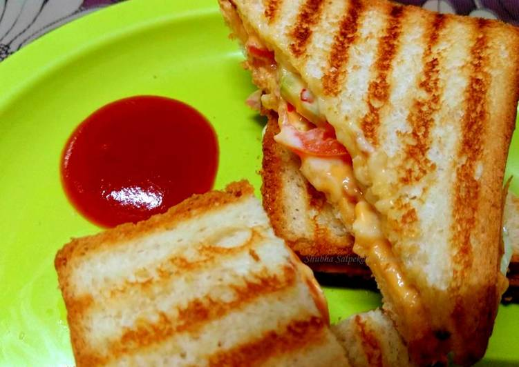 How to Make Super Quick Homemade 5 Minutes Grilled Sandwich