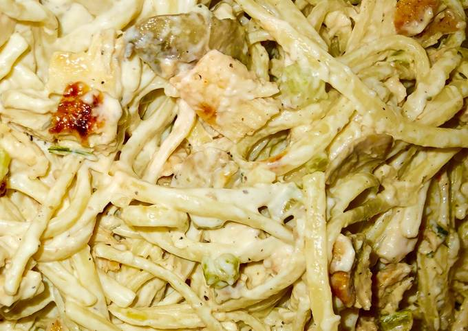 30 minute Grilled chicken ranch pasta