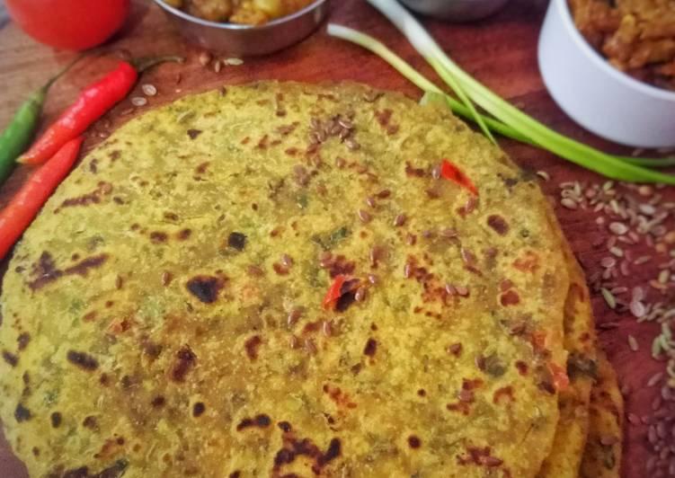 How to Make Homemade Chia Seeds and Green Garlic Achaari Paratha