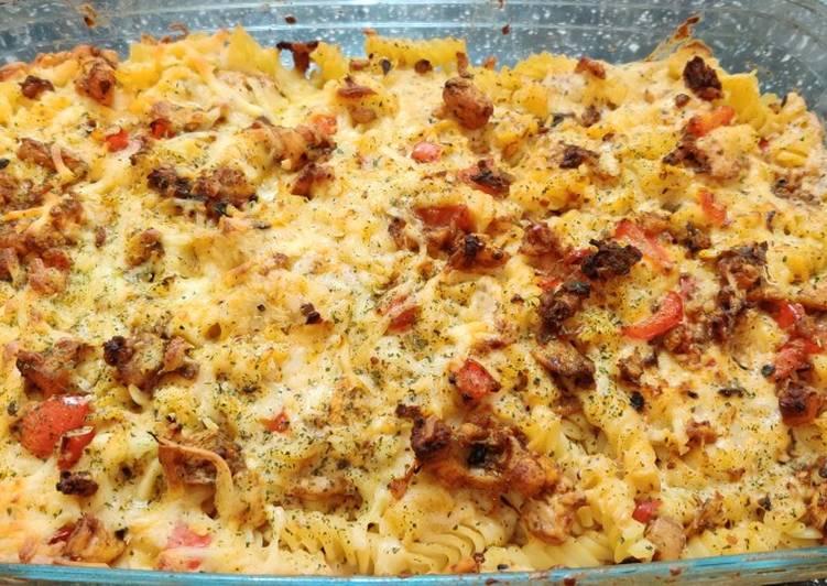 Tandoori white sauce pasta