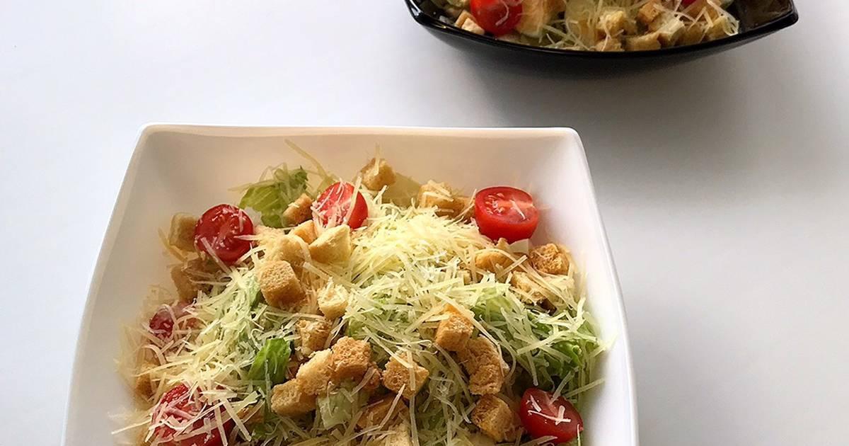 Рецепт салата цезарь классический с фото пошагово