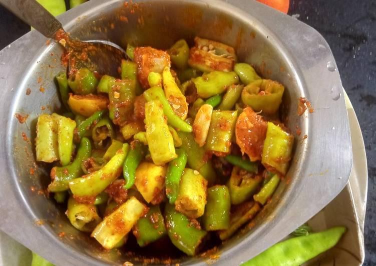 Recipe of Ultimate Green Chilli Pickle