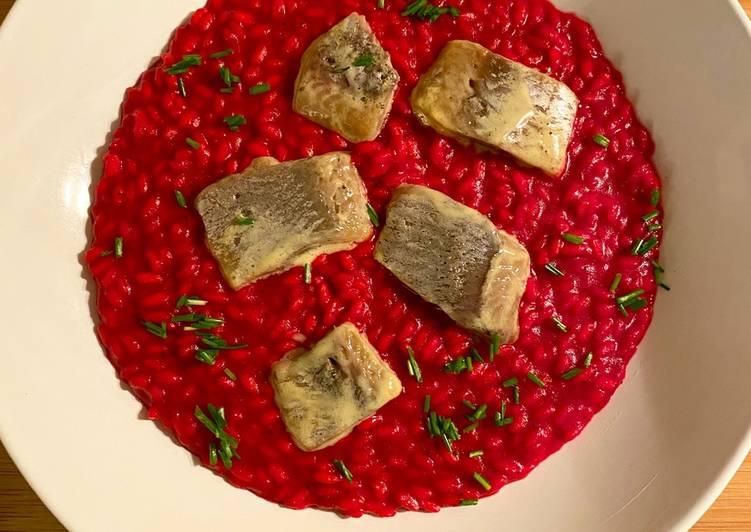 Ricetta Risotto rapa rossa e aringhe