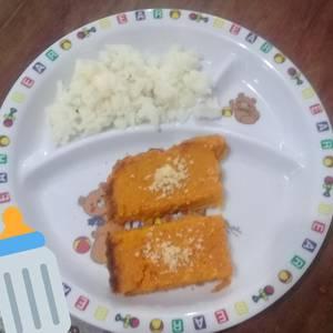 Para bebés y toda la familia budín de zanahorias con arroz
