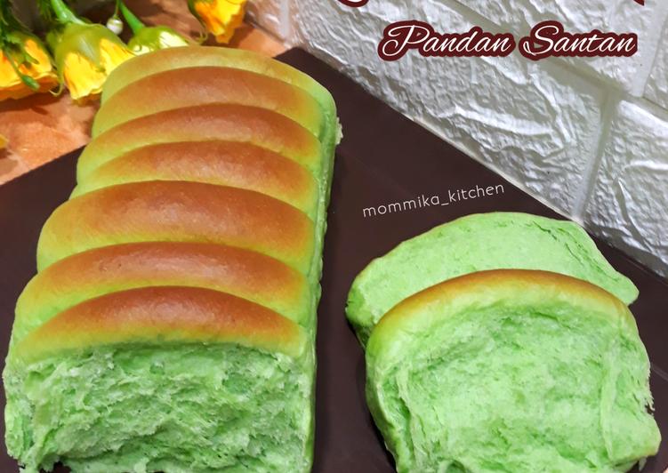 Roti sisir pandan santan tanpa mixer