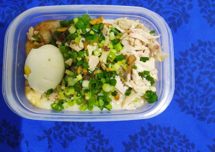 Bubur Ayam Quaker (menu diet)