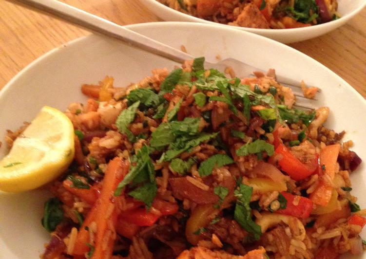Chinese 5-Spice Salmon Stir-fry