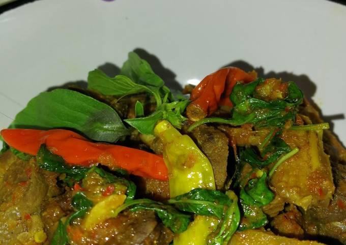 Rica-rica daun kemangi daging & paru sapi - projectfootsteps.org