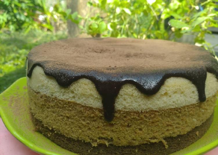 Bolu Kukus Tiramisu topping cokelat milo