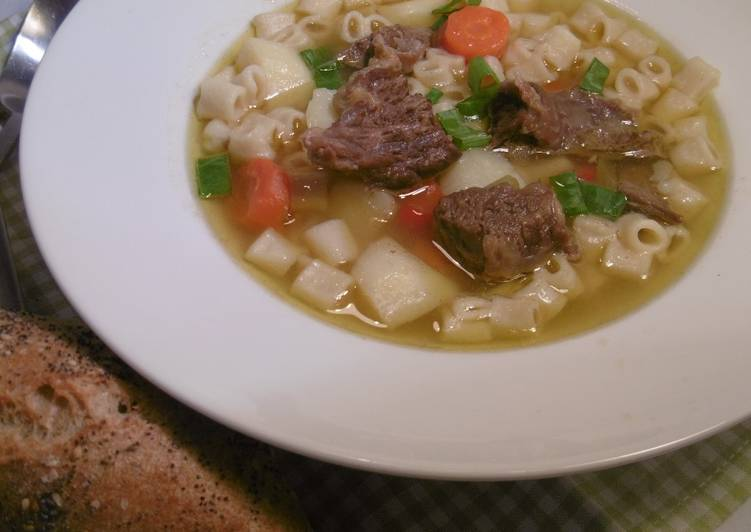 How to Prepare Award-winning Beef Vegetable Soup (Kreatosoupa me laxanika)