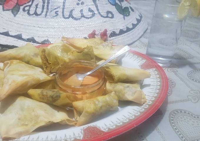 Oven samosa trial 1